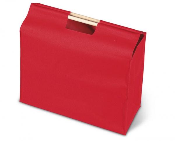 Canvas boodschappentassen : Grote boodschappentas met houten handvatten