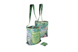 Gerecycled RPET opvouwbare Cross Bag Buddy: 45x11x42cm