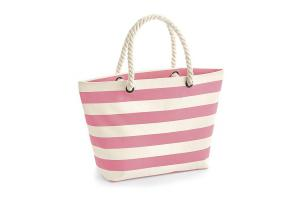 Nautical Beach Bag gestreept: 36x18x35cm