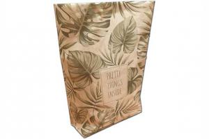 Paperbag Pretty Things Inside BRUIN maat M: 28x11x60cm